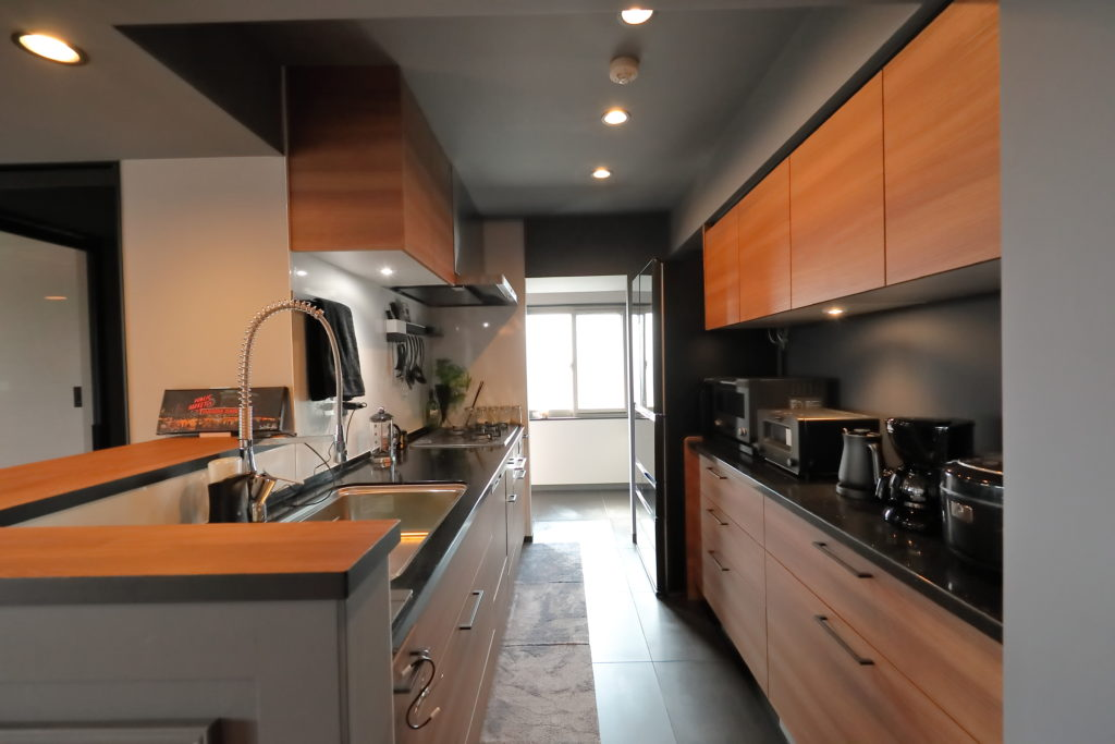 使いやすい対面キッチン