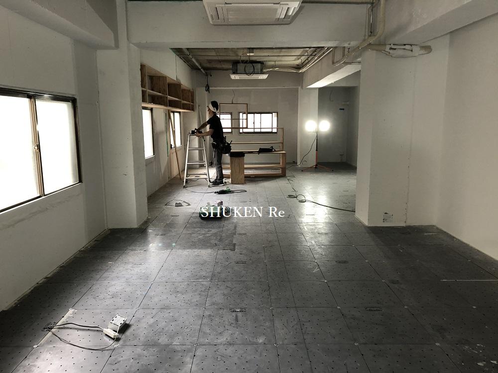 施工中の鉄筋コンクリートマンション