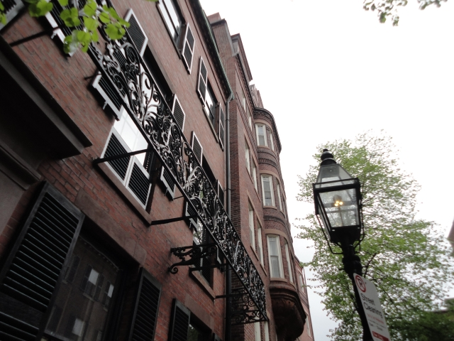 ボストンのビーコンヒルの街
