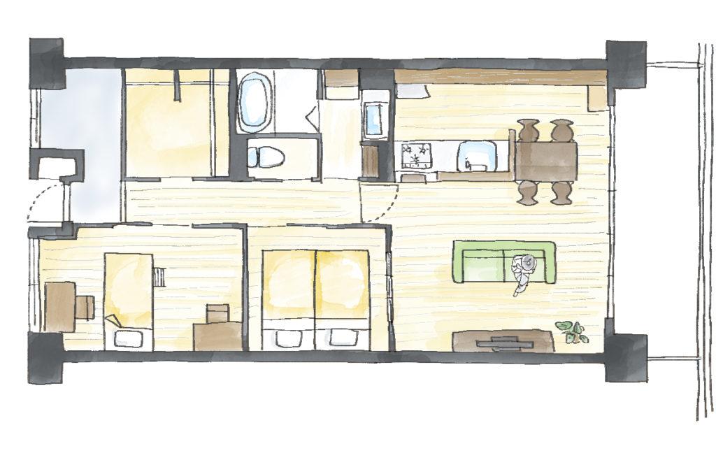 室内窓GJ!風通しのよい家のAfter