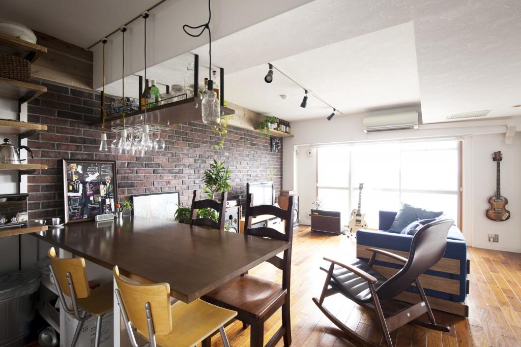 オトナっぽいカフェ風のデザイン