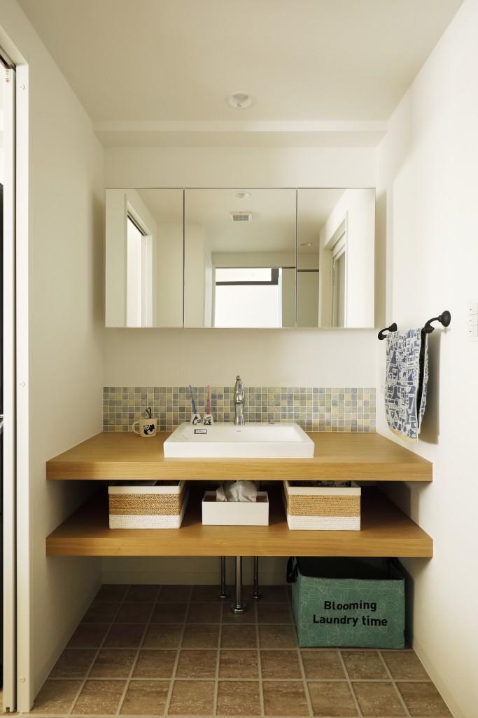 清潔感のあるシンプルな洗面