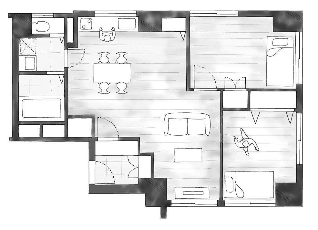 デッドスペースのない家のBefore