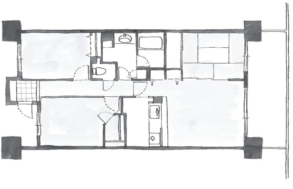 空間を広げる!室内窓活用術のBefore