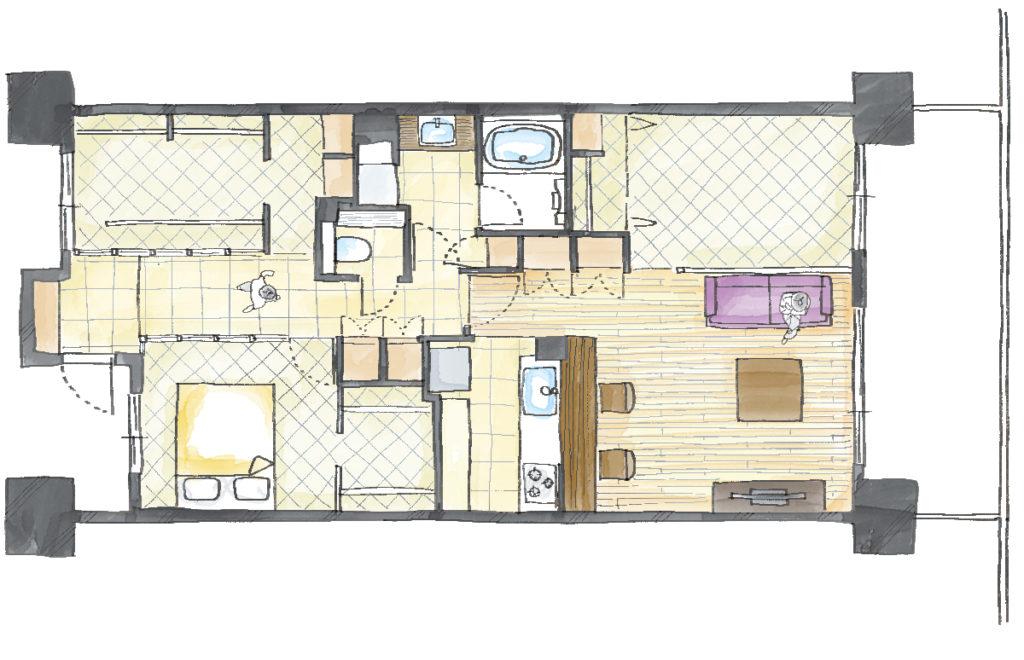 空間を広げる!室内窓活用術のAfter