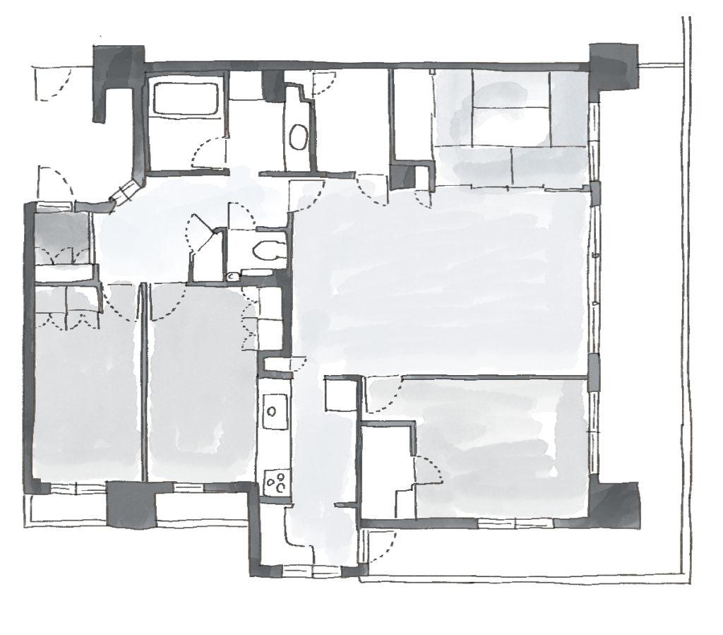「ホテルライクな新築風」をあえて、リノベで叶える贅沢のBefore