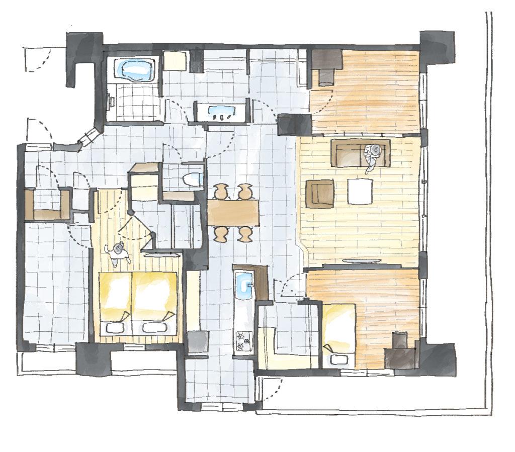 「ホテルライクな新築風」をあえて、リノベで叶える贅沢のAfter