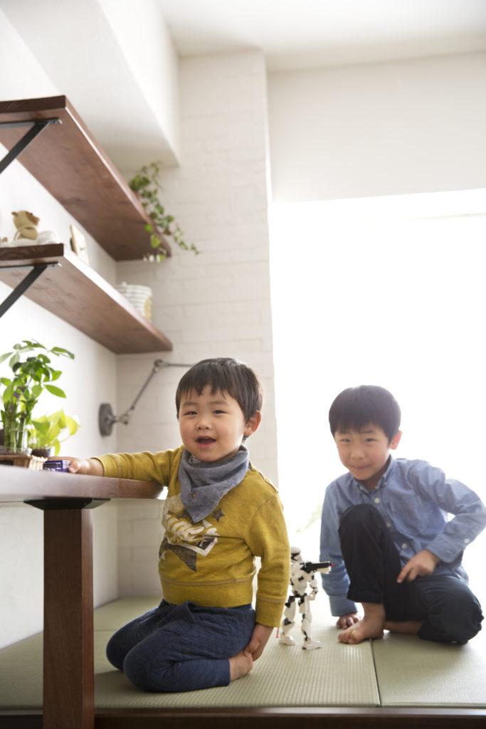 子供の遊び場になる畳スペース