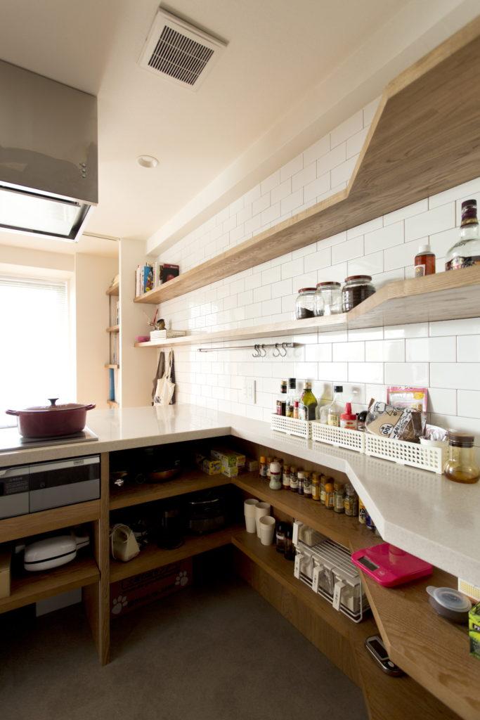 オーダーL型キッチン