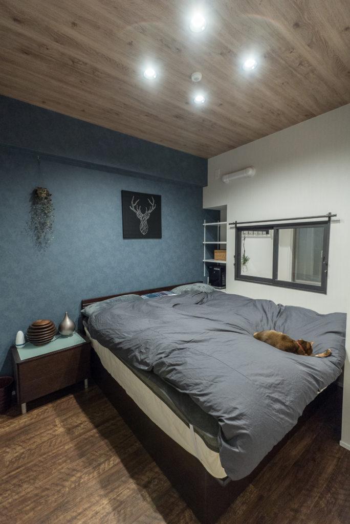 落ち着きのあるベッドルーム