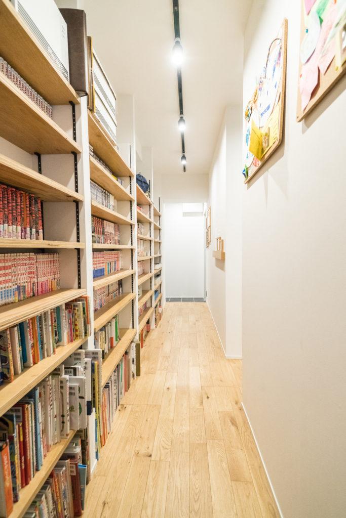 廊下の本棚収納