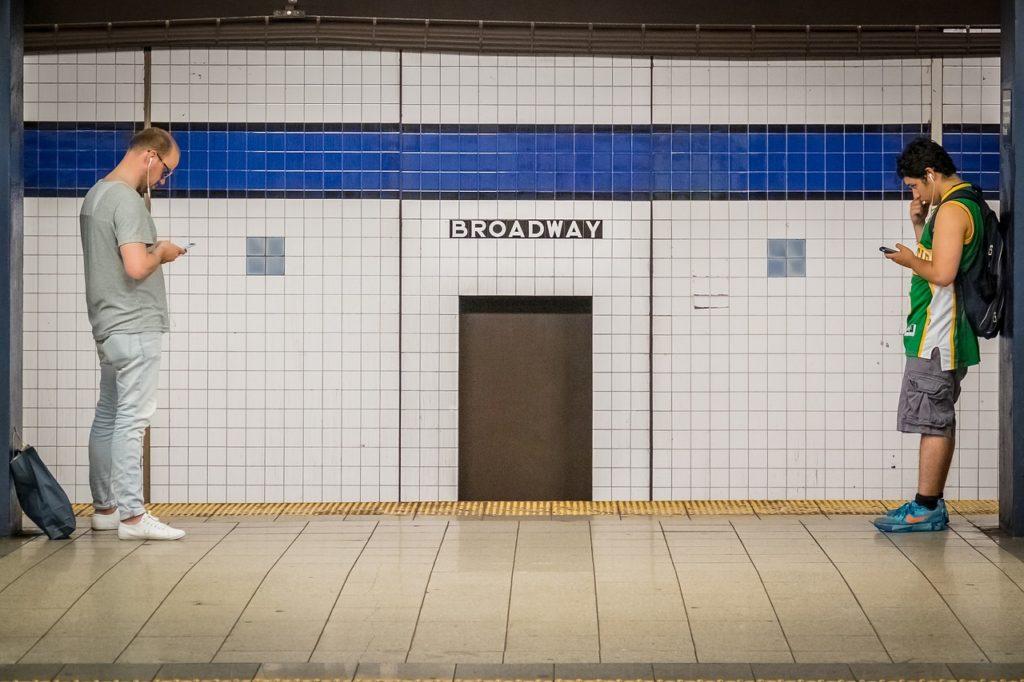 ブロードウェイの地下鉄のメトロタイル